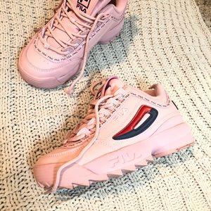 Fila Shoes | Pink Fila Disruptors